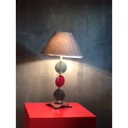Lampe vannes rouges et grises
